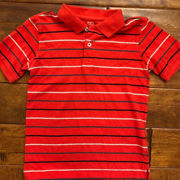 Faded Glory Other - Boys red striped polo